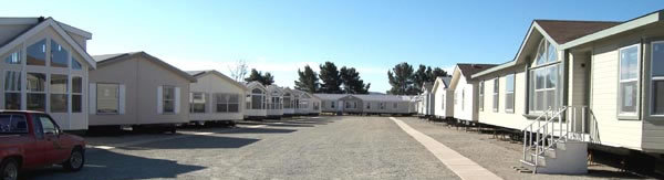 view of mobile homes on our lot